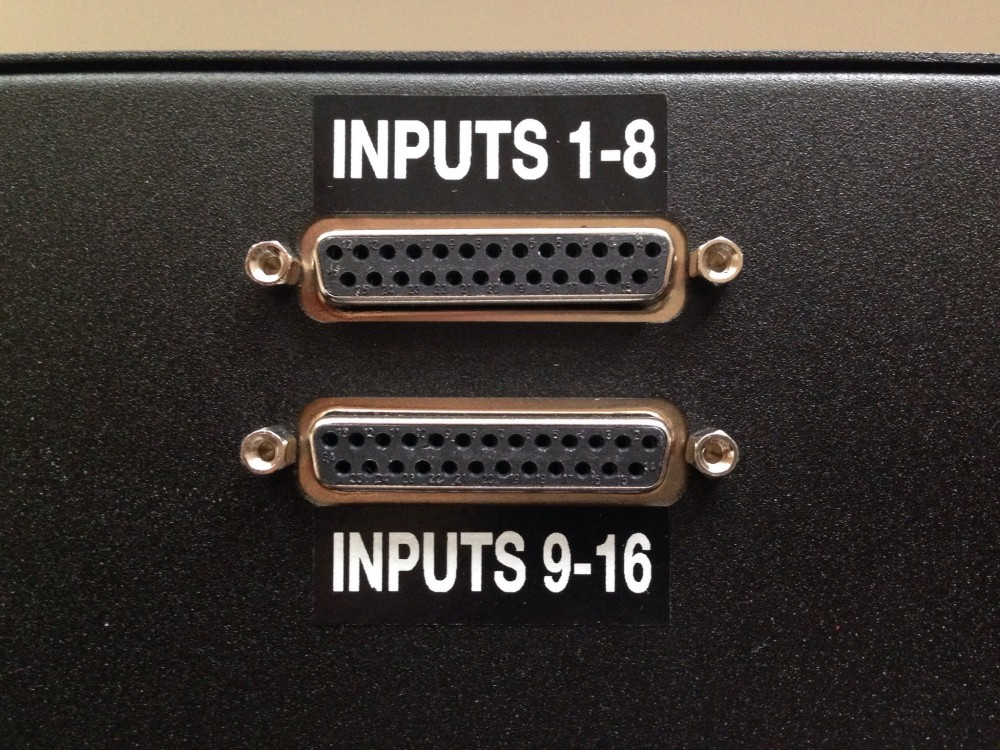 Rear panel inputs